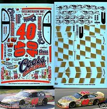 NASCAR DECAL #40 COORS ORIGINAL GOLD 2002 DODGE - 2 VERSIONS - STERLING MARLIN