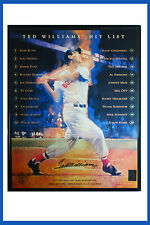 Ted Williams' Hit List Autographed Poster 16x20 Framed Green Diamond Sports COA