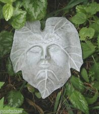cement plaster clay leaf face w/ tips down #3 plastic mold
