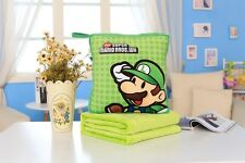 Super mario brother luigi quilt  Blankets zip warm hand cushion fold blanket
