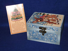 """RUDOLPH & CLARICE ORNAMENT & KEEPSAKE BOX"" ENESCO TRADITIONS JIM SHORE - MIB"