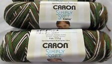 Lot of 3 Skeins CARON SIMPLY SOFT CAMO, MASH CAMO self-patterning Yarn