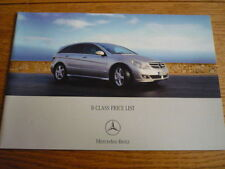 MERCEDES BENZ R CLASS  PRICE LIST SALES BROCHURE JAN 2006