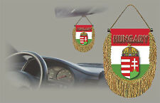 HUNGARY REAR VIEW MIRROR WORLD FLAG CAR BANNER PENNANT