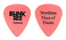 Blink-182 Tom DeLonge Worthless Piece Of Plastic Orange Guitar Pick - 2003 Tour