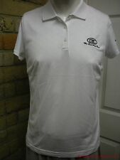 Lady's Adidas Climacool Sz L Short Sleeve Polyester Pullover White Shirt CA855