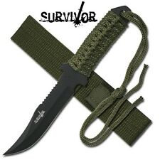 "Cool Compact Survivor  Full Tang  Knife + Excellent 21"" Survival Bow Saw"