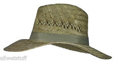 Hat Ausi Outback Bent Straw Brim sun protection vacation cruise surf beach wear