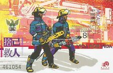 MACAO-CHINA-2001-FIREMAN- SOUVENIR SHEET -