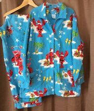 Nick & Nora XXL Flannel Pajama Set Lobster Santa Claws 2 Piece 2X Palm Tree