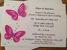 Handmade VERONA WEDDING INVITI / sera Personalizzati Pacco da 10 Inviti