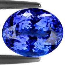 30.40 Ct WORLD CLASS ! CERTIFIED TOP FIRE AAAA PURPLISH BLUE NATURAL TANZANITE