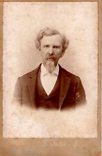 "Man in Suit Antique Photo - Marked F.M. Webb  Franklin, KY - 4 1/8"" x 6 3/8"""