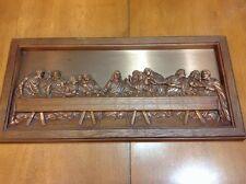 Last Supper Picture Coppercraft Copper Craft Guild  3D Relief Wall Hanging