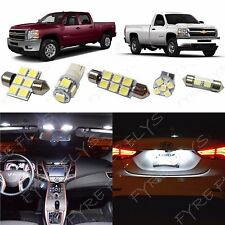 12x White LED interior package for 2007-2013 Chevy Silverado & GMC Sierra CS3W