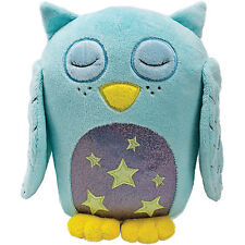 Suki Gifts Bedtime Buddies Light Blue Owl Glow in the Dark Soft Plush Toy