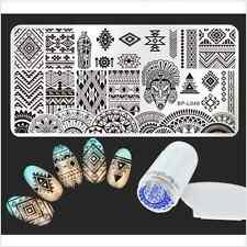 Born Pretty Ethnic Nail Art Image Stamp Plate Template Stamper Scraper DIY Tips