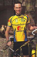 CYCLISME carte cycliste WESLEY THEUNIS équipe VLAANDEREN T interim EDDY MERCKX