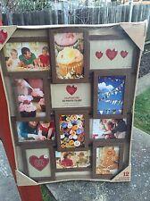 "Shabby Chi 12 Aperture Photo Picture Multi Frame 6x4"" Photo Holder Wood Effect G"