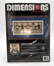 Dimensions Treasure A Friend Counted Cross Stitch Kit Bunny Rabbits Country Folk