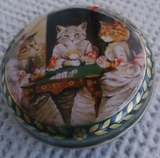 Green Round Cats Playing Cards Collector's Tin (Mints?) BNS