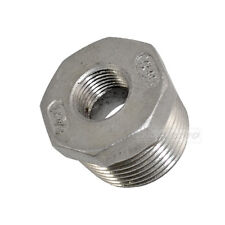 "1"" Male x 3/8"" female Stainless Steel threaded Reducer Bushing Pipe Fitting NPT"