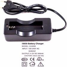 Ladegerät Charger 1A für 1 x 18650 3,7V Lithium-Ionen Akku Cree LED Taschenlampe