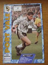 11/04/1992 PORT VALE V Brighton e Hove Albione (senza apparenti difetti)