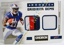TJ GRAHAM 11 ROOKIE GRIDIRON GEMS FOOTBALL RELIC 4 COLOR PATCH JERSEY 14/49 2012