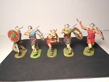 Elastolin 7cm-70mm Pro-Painted Vikings, Total 5 Figures, LOT#2