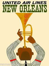 New Orleans Louisiana Jazz 2 Vintage United States Travel...
