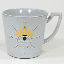 Starbucks Coffee SIRENS EYE 12oz Mug Cup 2014 Embossed Compass Swarovski Crown