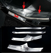 Door Sill Protector Within Inside Bumper for 2014-2016 Subaru Forester Steel