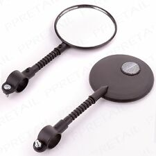 FLEXIBLE REAR VIEW SAFETY MIRROR Black Bicycle/Bike/Cycle Handlebar Attachment