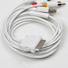 High quality AV to TV Composite RCA Cable USB Adapter for iPad iPod iPhone 4 4S