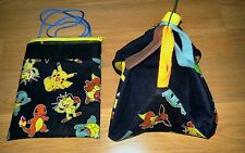 (POKEMON FIGURES in black!!) Sugar Glider Bonding Pouch & Sleeping  Hammock!!