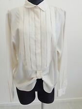 Nwt $1,035 Bottega Veneta Ivory Cream Mid-Buttons Long Sleeve Shirt EUR 46