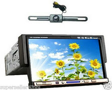 "Single Din 7"" In Dash Car Stereo DVD CD Radio Player Touch Screen + Camera"