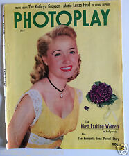 Photoplay April 1952  Jane Powell COVER page only! US Movie Film Magazine