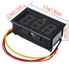 DC 0-99V 3 Wire LED Display Panel Volt Meter Voltage Voltmeter Car Motor-RED GY