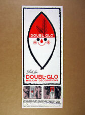 1960 Doubl-Glo Holiday Christmas Decorations tinsel garland vintage print Ad