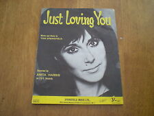 ANITA HARRIS - JUST LOVING YOU = SHEET MUSIC