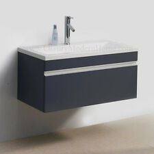 "Vanity Sink PICKUP LOS ANGELES 36"" GRAY modern bathroom cabinet wall hung"