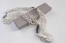 """Silpada Bamboo Coral 925 Sterling Silver Long Seed Bead Necklace  N1573  35"""""""