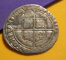 TUDOR PERIOD 1583 ELIZABETH 1ST SILVER SIXPENCE ROSE BESIDE BUST.GOOD DETAIL