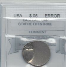 "**USA**, Severe Offstrike ""Baseball Cap Error"" Jefferson Nickel ""81"""