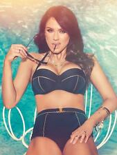 Ann Summers Martini Black Bikini Top & High Waisted Brief Sz 34D 10 *In Stock*