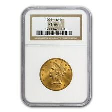 $10 Liberty Gold Eagle Coin - Random Year - MS-64 NGC - SKU #23198