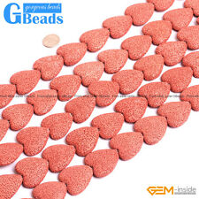 27mm Red Lava Volcanic Heart Love Shape Beads For Jewelry Making Free Shipping