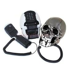 Novelty Skull Skeleton Shaped Corded Home Desk Telephone Phone Eyes Random Color
